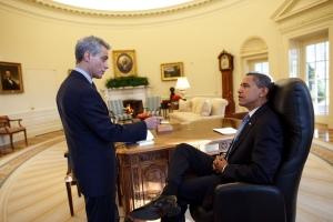 Le 1er jour d'Obama (photo The White House)