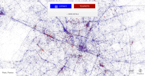 Tourists vs. Locals  (MapBox / Gnip)